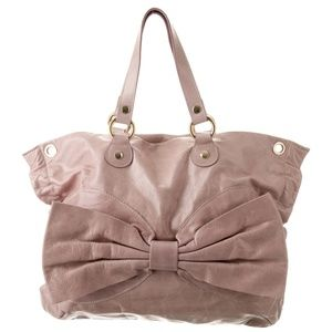 Red Valentino Leather Bow Blush Pink shoulder bag